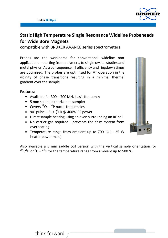 HP WL HT NMR probe-2