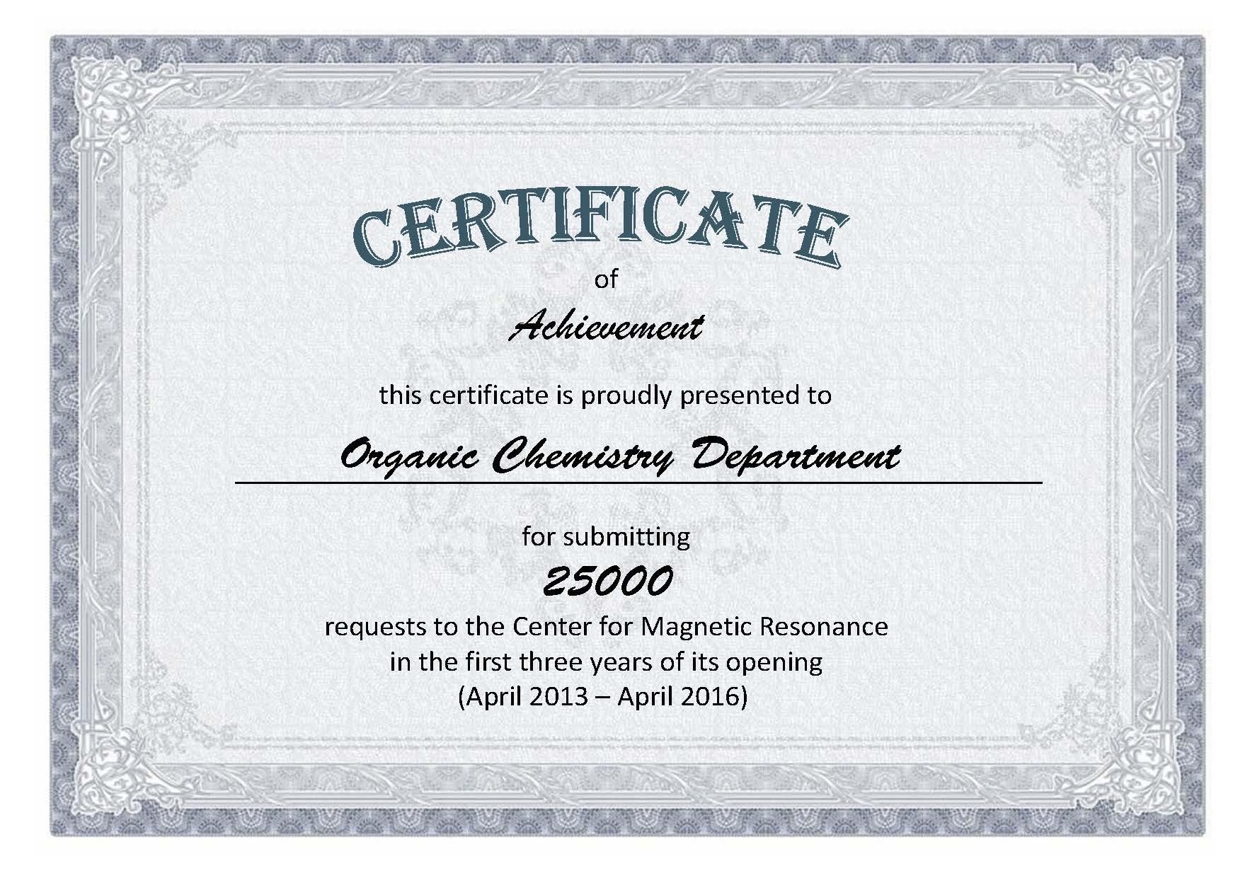 Сертификат Organic Chemistry (1)