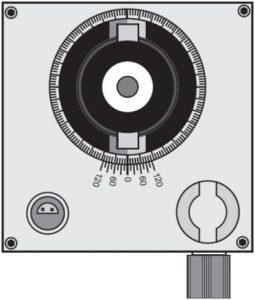 Гониометр, вид сверху